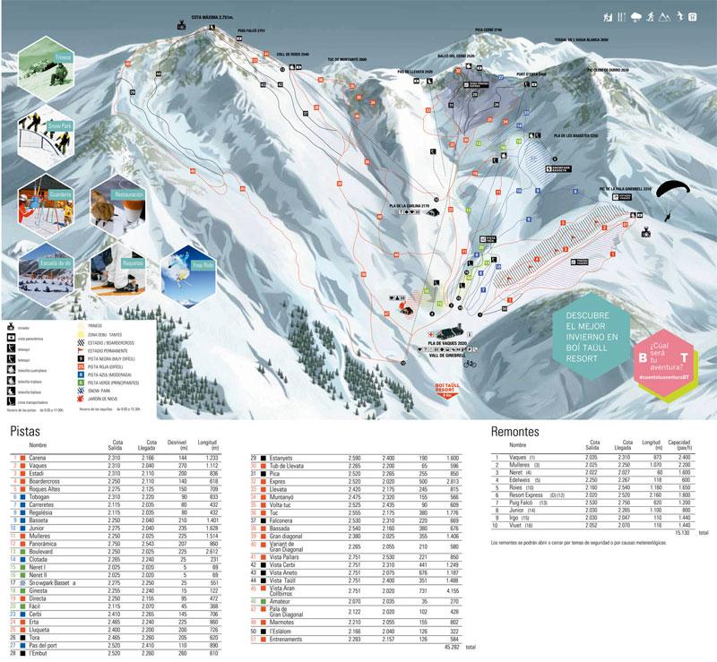 План-схема трасс горнолыжного центра Бои-Тауль