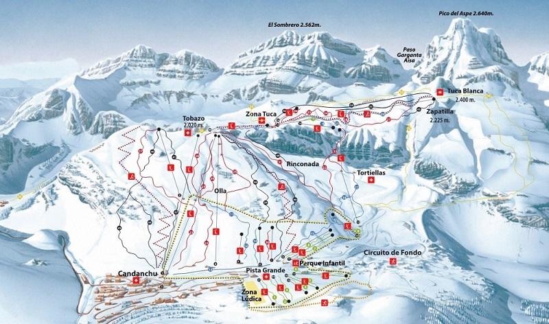 План-схема трасс горнолыжного центра Канданчу