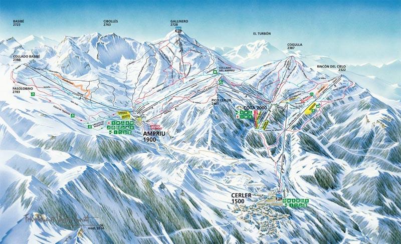 План-схема трасс горнолыжного центра Серлер