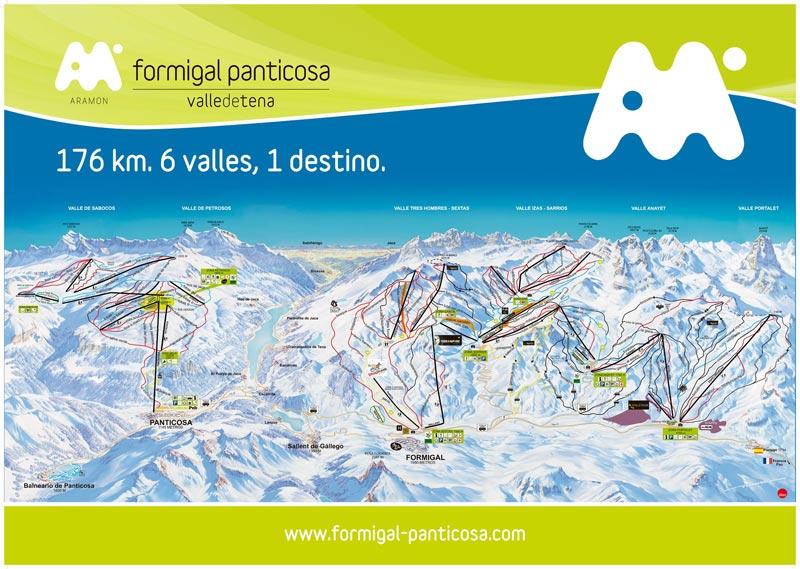 План-схема трасс горнолыжного центра Формигаль