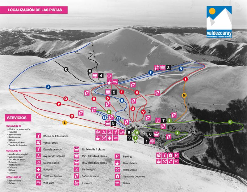 План-схема трасс горнолыжного центра Вальдескарай